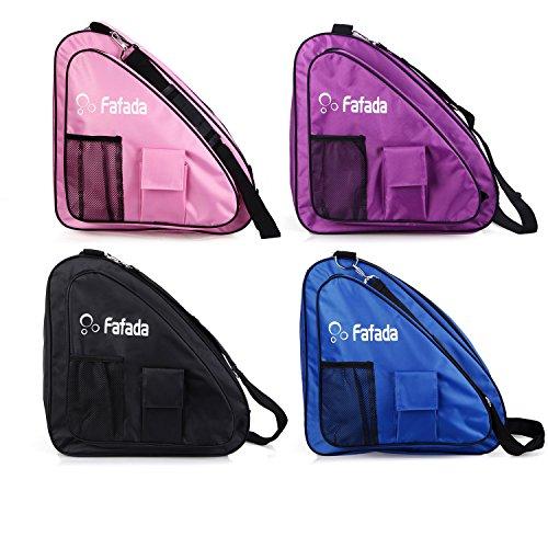 Fafada Skatertasche Inliner Tasche Schlittschuhtasche Skate Bag Wasserabweisend Tasche für Skate Schlittschuh Rollschuhe bis zu 38 Gr. Pink (Schlittschuhe Rosa)