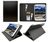 Sweet Tech Wind Tab 10 Tablet PC 10.1 inch Carbone Nero Universale Rotazione PU Pelle Custodia Case Cover (10-11 Pollici