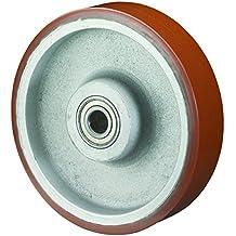 BS rotelle ruota in poliuretano, corpo in ghisa, cuscinetti a sfera, 125mm, c10.128