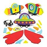 Kits de bólidos de carreras con resorte en forma de nave espacial a precios de ganga, perfectos para que los niños pasen horas de diversión jugando y como regalo para bolsas sorpresa (pack de 4).