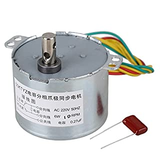 CNBTR A50KTYZ 10RPM AC220V Synchronous Speed Reduction Gear Motor with 6mm Shaft Dia