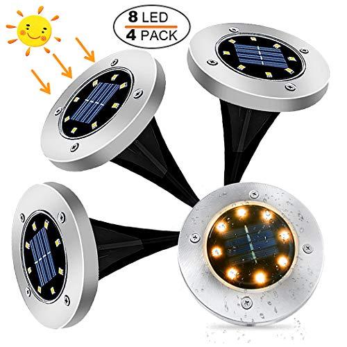 4 luces solares para jardín por 15,19€ ¡¡69% de descuento!!