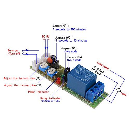 XCSOURCE DC 5V ciclo infinito ciclo di temporizzazione timer Ritardo