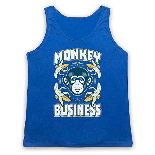 Monkey Business Funny Tank-Top Weste Blau