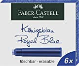 Faber-Castell 185506 - Tintenpatronen Standard, 6 St?ck, K?nigsblau
