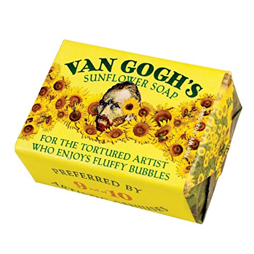 Vincent Van Gogh Sunflower Soap - 1 Mini Bar of Soap - Made in The USA