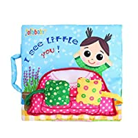 Amazemarket Baby Boys Girls Toys Soft Cloth Book Non-Toxic Fabric Cognize Activity Visual Development kids Tear-resistant Interactive Gift Early Educational (hide and seek)