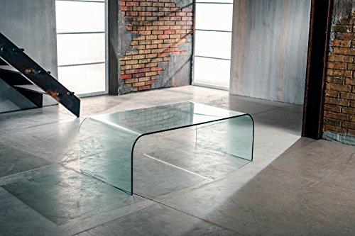 Klipick Table Basse en Verre incurvé