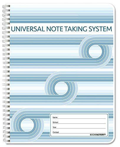 BookFactory Universal Note aufnehmen System (Cornell Notizen)/An Notebook Wire-O 120 pages - 6