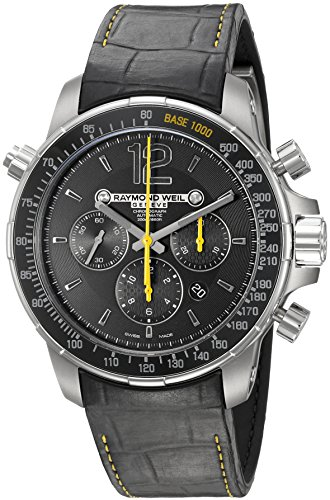 Raymond Weil Men's Nabucco 46mm Black Rubber Band Titanium Case Automatic Black Dial Watch 7850-TIR-05207