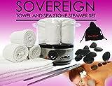 Spa Stone & Towel Steamer Set.