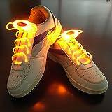 JIALUN- LED Warmes Weiß RGB 1 Paar 80 cm Glow Schnürsenkel LED Sport Schnürsenkel Glow Stick Blinkt Neon Leuchtend Schnürsenkel ( Color : Yellow )