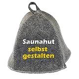 Saunahut SELBST GESTALTEN mit Stickerei Saunamütze Saunakappe bestickt!