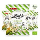 Wildcorn - salziges Popcorn - Dill Zitronengras (4x50g) | gesunder Snack | leckere Alternative zu Chips | Superfood für Büro, Unterwegs, Kino | vegan | 100% Bio | ohne Zuckerzusatz | glutenfrei | Healthy Food | Mid Sommar