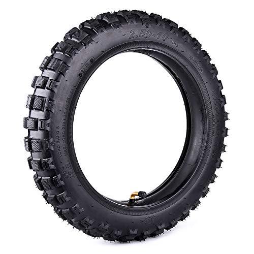 Wingsmoto Knobby Mini Dirt Bike Tire 2.50-10 Avant ou Arrière Off Road Moto Motocross Correspondant à la Taille du Tube Interne