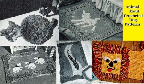Tiermotiv Gestricken Teppich Muster