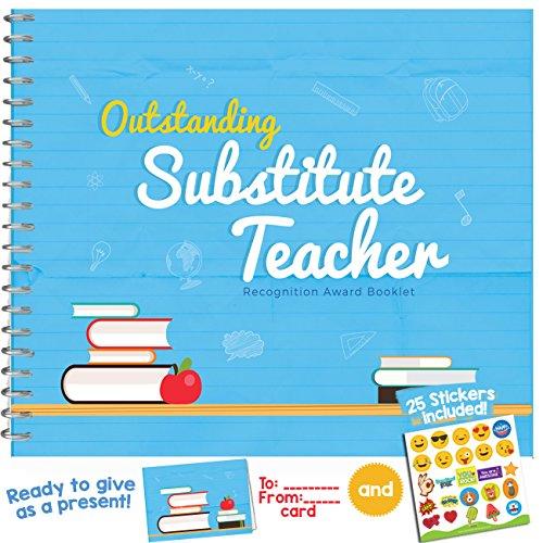 Best Ersatz Teacher Award Booklet–personalisiertes Geschenk Ideen für Universität, High School oder Uni Lehrer.