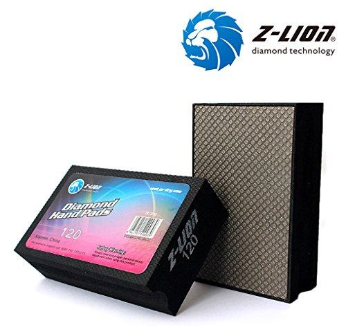 Z-Lion galvanisierte Diamant-Handpolierpads für Granit, Marmor, Stein, Glas, Keramik, Set von 4 Stück, schwarz (Glas Schwarze Keramik,)