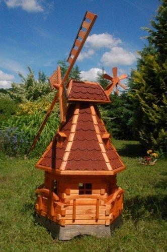 Windmühle aus Holz, 1,4m