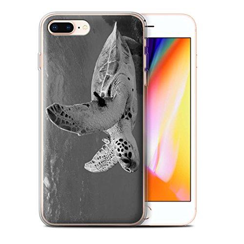 Stuff4 Gel TPU Hülle / Case für Apple iPhone 8 / Schildkröte Muster / Zoo-Tiere Kollektion Schildkröte