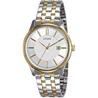 CITIZEN Men's Quartz Watch, Analog Display and Stainless Steel Strap BI1054-55A