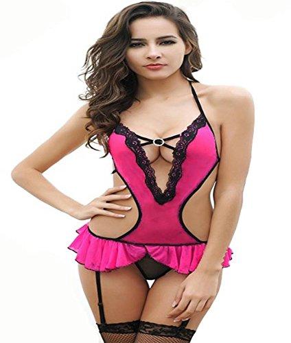 StylEra 127 Sexy Honeymoon Lingerie for Women/Ladies and Girls Nightwear Super Soft Net Babydoll Dress Sleepwear Naughty Bold Bridal Wear (Purple)