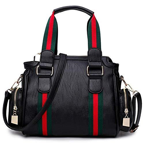 KAIDILA Handtasche für Frauen Kreuz Leichensäcke Totes Farbe Motorrad Umhängetasche Messenger Bag Baotan -