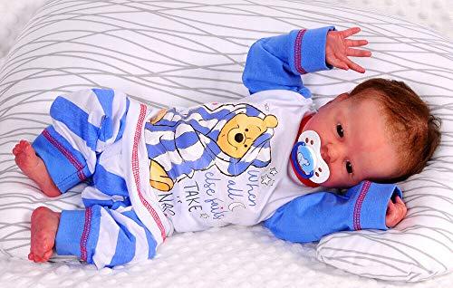 Schlafanzug 62 68 74 80 86 92 Winnie Pooh Baby Pyjama Set Shirt Hose Disney (12/18-74/80)
