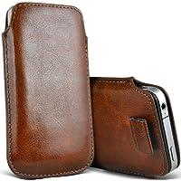 ( Brown ) Orange Miami Protezione Faux Leather Pull pelle