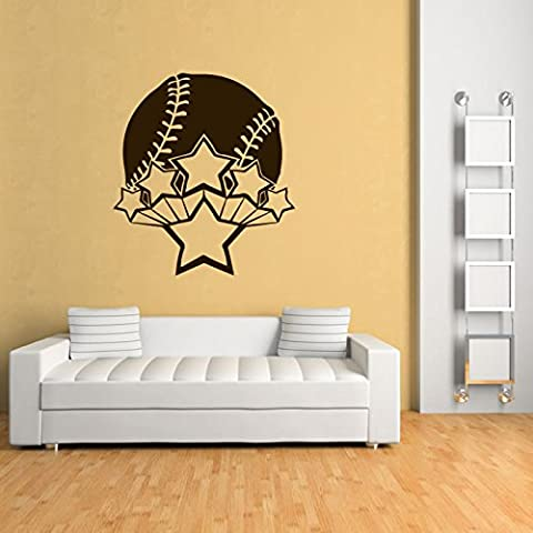 Baseball Wall Sticker Sports Wall Decal Art available in 5