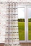 Ösenschal Stripes 140x245cm Natur-braun als Dekoschal Ösengardine