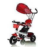 Fascol Dreirad für Kinder, 1 bis 5 Jahre, Doppelsitz Rosa