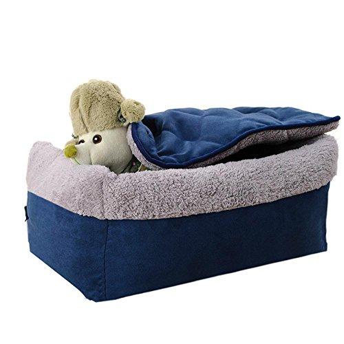 BiuTeFang Hundebett Katzenbett Baumwolle Pet Bett Tuch-Typ Klapphandy Abnehmbare Haustier Wurf Hundebett