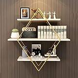 Wall Shelves - Wandregal aus nordischem Schmiedeeisen Wohnzimmerbettzimmer Balkon Bücherregal Blumenständer Home Decor Storage Racks (größe : 60 * 20 * 60cm)