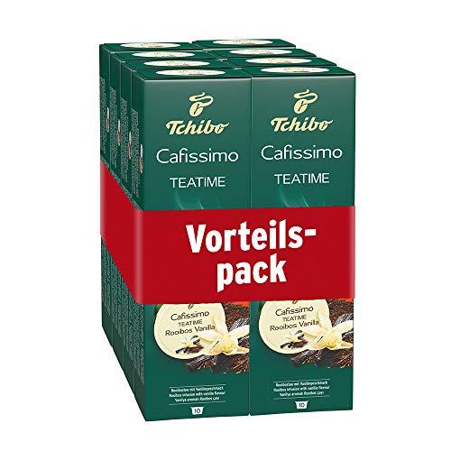 Tchibo Cafissimo TEATIME Rooibos Vanilla Kapseln, 80 Stück (8 x 10 Kapseln)