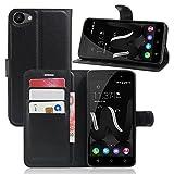 Guran Housse En Cuir pour Wiko Jerry (5,0 pouces) Smartphone Flip Cover Etui Debout Fonction et Fente Porte-cartes Cas