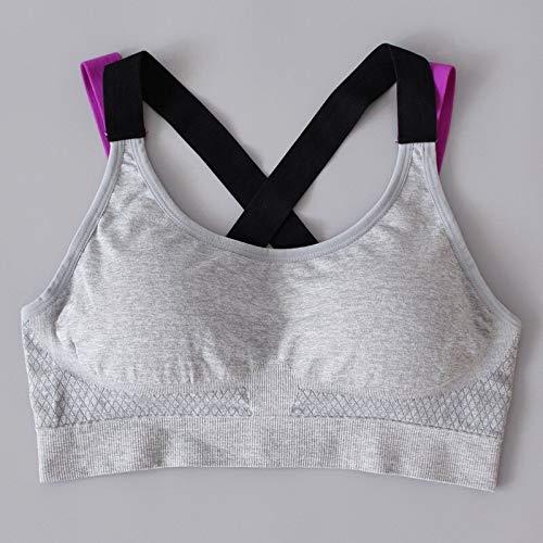 LXJ Sport-BHS, Yoga Push-Up-Sport-BH for Frauen Gym Yoga BH Lauf Padded Brassiere Sport Fitness Top-Behälter-Weste Stoß- Sport BH-Oberteil (Color : B, Size : M) - 2