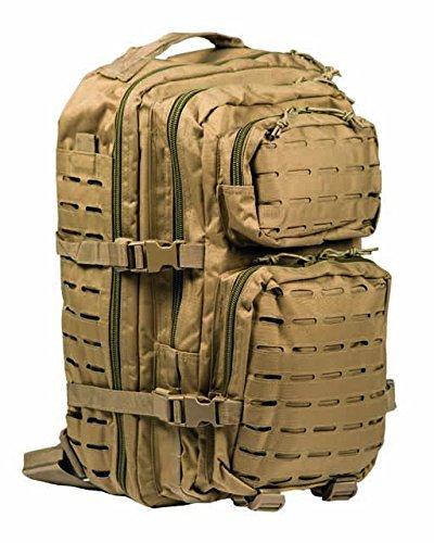 301737ea4f Mil-Tec Zaino Militare Tattico LASER CUT MOLLE US Assault - LARGE - camo TAN  DESERT (COYOTE)