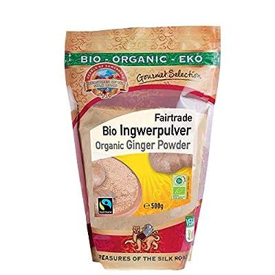 Poudre de Gingembre Bio 500g moulou, aromatique pour thé au gingembre, cru, 100% naturelle