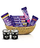 #9: Cadbury Assorted Chocolates Diwali Tokri, 254g - With Glass Diya
