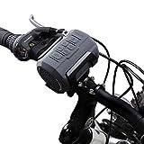 Fahrrad Lautsprecher, Venstar Wasserfester Tragbarer Bluetooth Lautsprecher, Eingebautes Mikrofon, Unterstützt Micro SD/TF Karte, 6W starker Treiber und Passiver Radiator, mit Befestigungskit, Fahrradklingel und Fernbedienung fürs Fahrrad und Outdoor