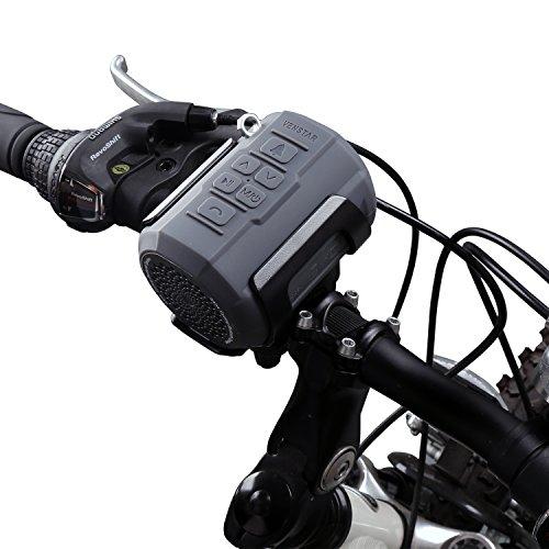 Fahrrad Lautsprecher, Venstar Tragbarer Bluetooth Lautsprecher Spritzwassergeschützt mit 6W Treiber, Unterstützt Micro SD/TF Karte, mit Befestigungskit und Fernbedienung fürs Fahrrad und Outdoor