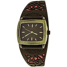 Kahuna como se muestra en la plaza de la profesion de las señoras de cuero genuino marrón correa de reloj de pulsera KLS-0220L