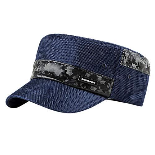 Flat Top Cadet Caps verstellbare Korps Vintage Flat Top Hüte ()