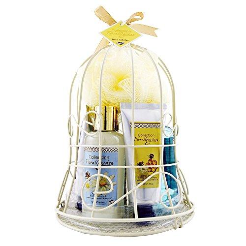 Floral Bell (Gloss! Bell-Hot Metal Floral Garden - Mandel-Honig - 7 Stück, 1er Pack (1 x 800 g) Geschenk-Box - Bade-Geschenk)