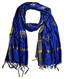 #7: YOUTHQUAKE Women's Silk Printed Dupatta With Golden Border