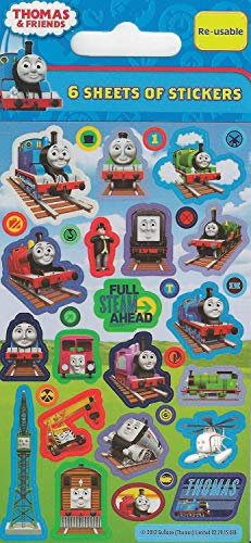 Party Bags 2 Go 01.70.15.018 Thomas The Tank Engine Party Bag Stickers, Pack of 6 Sheets (Thomas The Tank Engine Party)