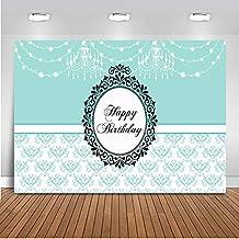 Mehofoto Happy Birthday - Candelabro de Vinilo para decoración de Fiesta de Primer cumpleaños, diseño