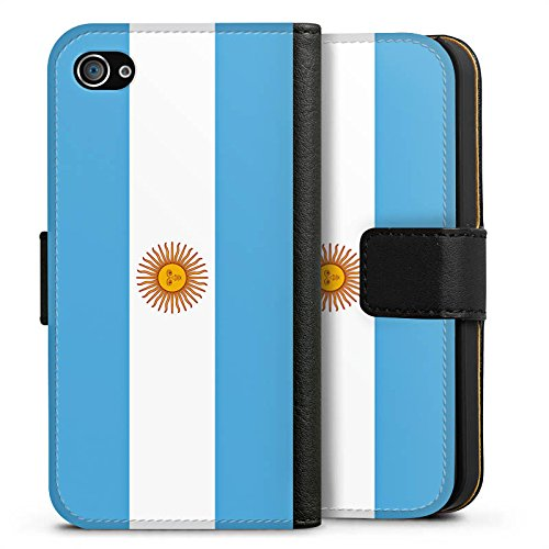 Apple iPhone X Silikon Hülle Case Schutzhülle Argentinien Flagge Argentina Sideflip Tasche schwarz