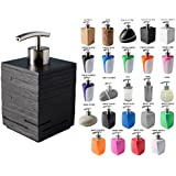 Soap Dispenser | Wide choice of beautiful soap dispenser | Stainless Steel Pump | Easy to clean (Calero Black)
